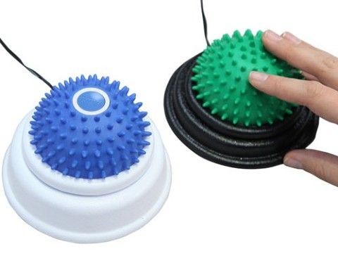 The Tactile Switch Set contains two wonderfully textured switches - one with vibration, one without. -Courage Kenny Rehabilitation Institute