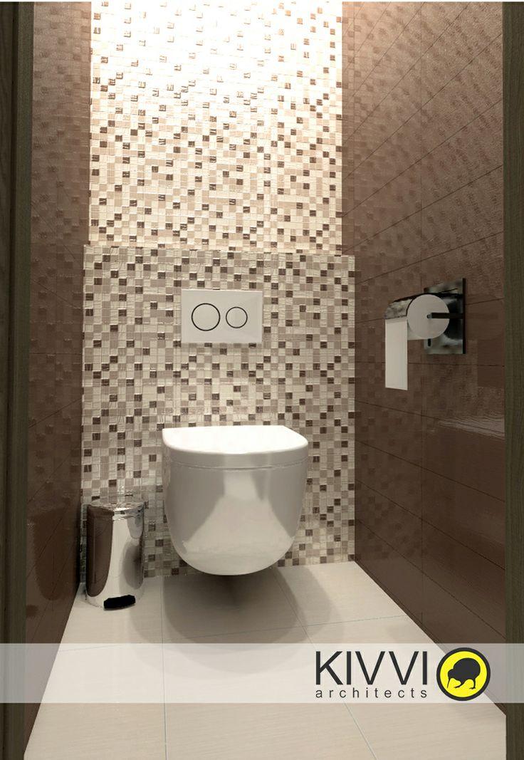 Návrh interiéru WC. Interiérový dizajn od Kivvi architects_Toilet interior www.kivvi.sk