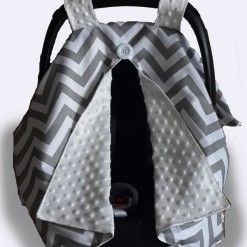 Car seat canopy winter grey #chevron #stone #carseatcanopy #moocachoo #babyproduct #handcrafted #onlineshopping #mommy #grey #winter