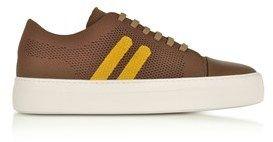 Neil Barrett Men's Brown Leather Sneakers.
