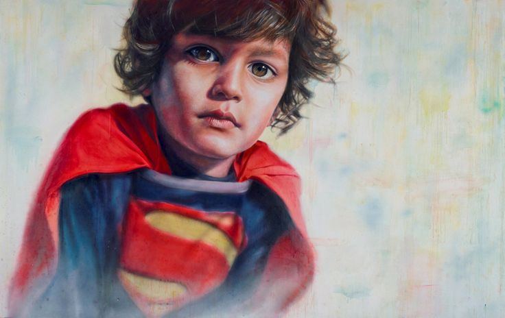 Oil on Linen -Vincent Fantauzzo describes this painting as a self-portrait with his four-year-old son Luca as his subject and inspiration. 'Things have changed so much for me since Luca came into my life,' says Fantauzzo.