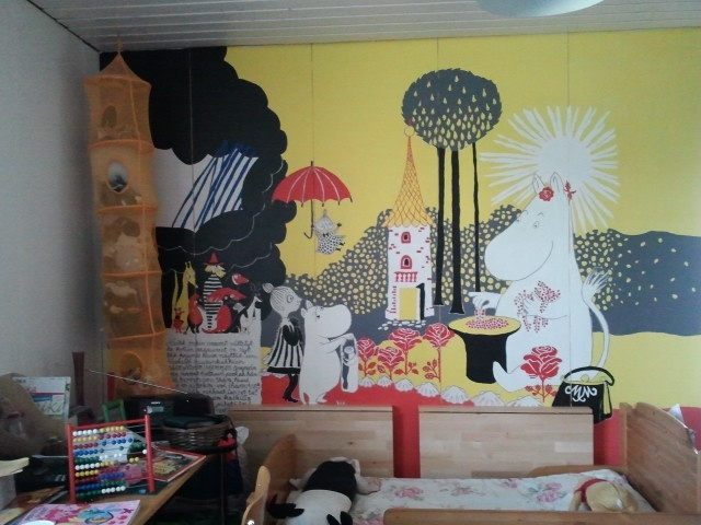 Our Moomin Wall - From The Book about Moomin, Mymble and Little My (Kuinkas sitten kävikään)