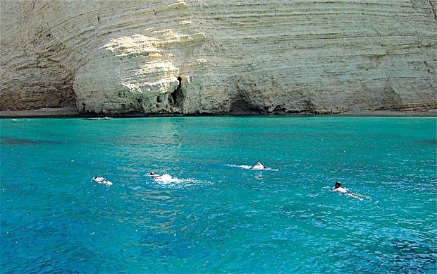 The coast along the Tekke Peninsula (for which Lycia is the historical name) is also known as the Turquoise Coast because of its extraordinary clear water and ancient Lycian ruins littering its bed. (Turkey) Just amazing