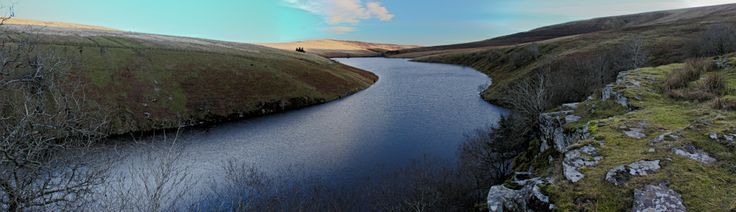 Grwyne Fawr reservoir in the Black Mountains Brecon Beacons wales