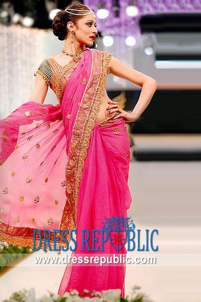 Hot Pink Fallbrook, Product code: DR9503, by www.dressrepublic.com - Keywords: Saree Shops Long Island, New York, Sari Shops New York, Indian Saree Shops New York, USA