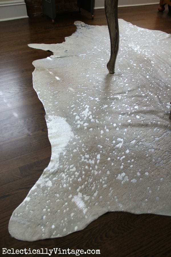 Office Makeover White Devour Cowhide Rug At Eclectically Vintage