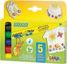 Textilstifte texi Mäx Javana Stoffmalstifte ***5 Stück farblich sortiert***