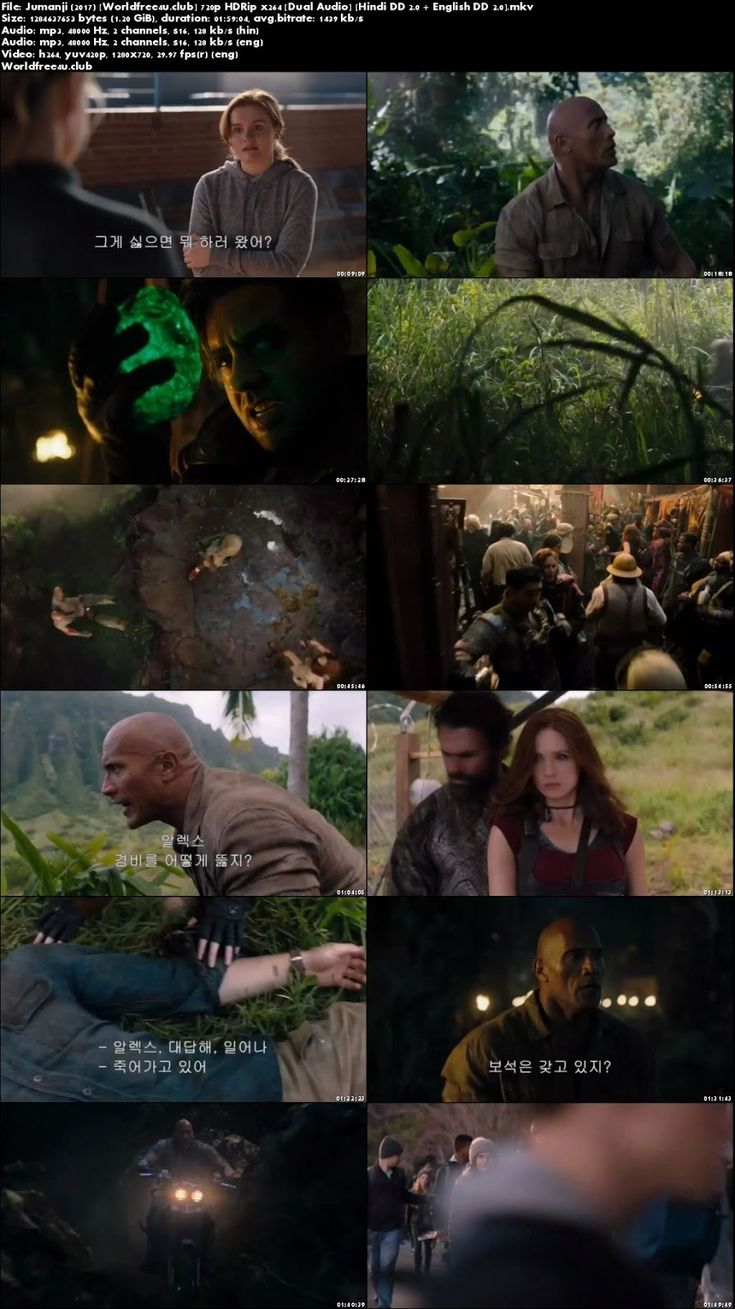 Jumanji Welcome to the Jungle 2017 Full Hindi Movie Download Dual Audio HDRip 720p IMDb Rating: 7.2/10 Genre: Action, Adventure, Fantasy Director: Jake Kasdan Release Date: 20 December 2017 Star Cast: Dwayne Johnson, Karen Gillan, Kevin Hart Movie Story: Four teenagers discover an old video game console and are
