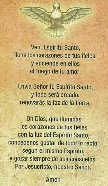 α JESUS NUESTRO SALVADOR Ω: Ven Espíritu Santo y concédenos gustar de todo …