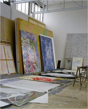 Sigmar Polke's studio