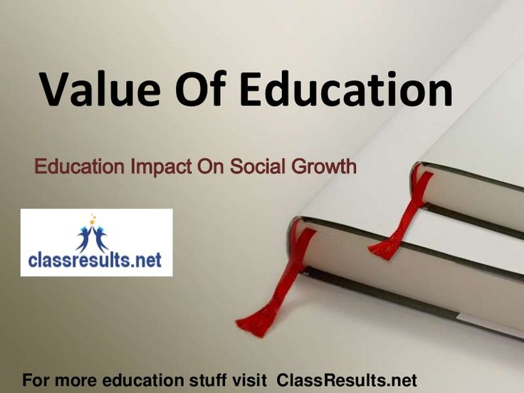 Value Of Education In Society Growth by Ankit Pareek via slideshare