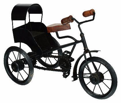 Utsav Kraft Iron Bike Showpiece (30 cm x 13 cm x 20 cm, Black)