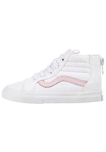 9422c59f85abb7 Vans Toddler T SK8 Hi Zip True White Chalk Pink Size 8