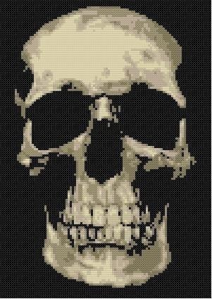 Skully Counted Cross Stitch Pattern | $9