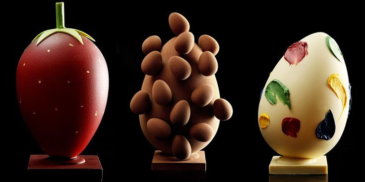 Huevos de Pascua a modo de esculturas del gran Oriol Balaguer.