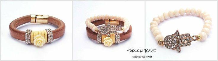 ★__Rock n' Roses handcrafted jewels--leather n' crystal bracelets__★  http://rocknroses-gr.blogspot.gr/