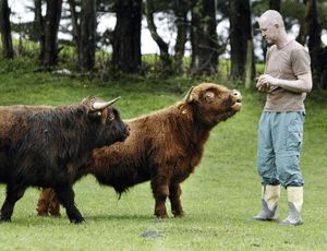 miniature cows.  I want a farm that is all miniature animals!