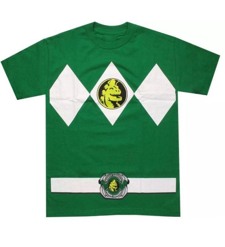 Mighty Morphin Power Rangers Green Ranger Costume Medium T-Shirt #welovefine #GraphicTee