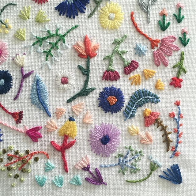 A colorful corner #happycactusembroidery #dstexture