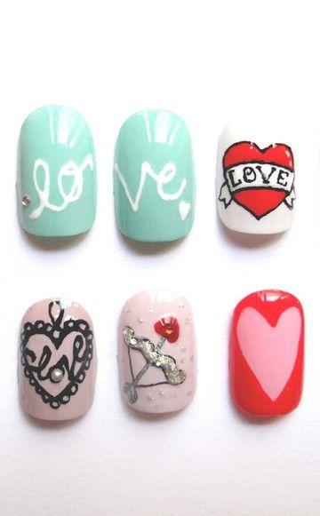 Love Shit Nails: Mit Liebesgrüßen aus dem Shit Shop: Nägel im Valentinstags-Look.