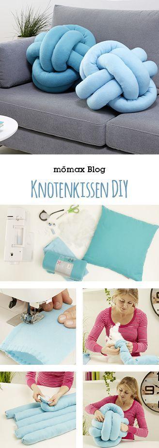 Knoten Kissen Anleitung!! Celtic knot pillow oder Knotenkissen sind zur Zeit der neustete Trend, wenn es um Wohnen und Einrichten geht. Wie du dir ein Knotenkissen ganz einfach selber machen kannst, findest du am mömax Blog!