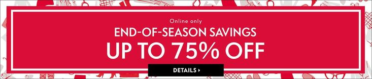 Neiman Marcus takes up to 75% off a selection of men's and women's apparel, shoes, and accessories during its End of Season Savings sale. ...