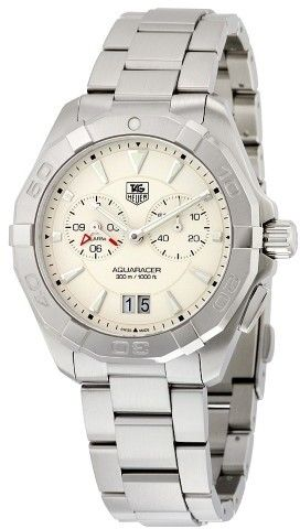 Tag Heuer Aquaracer Chronograph Silver Opalin Dial Stainless Steel Men's Watch WAY111Y.BA0928