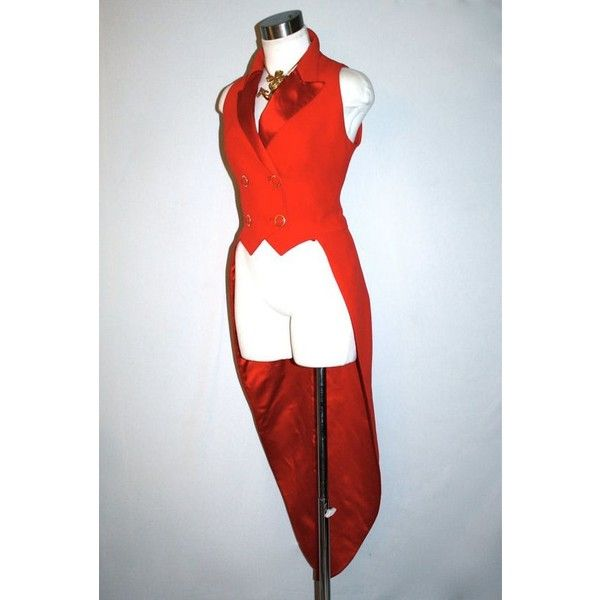 Vintage GIANNI VERSACE COUTURE Vest Red Ringleader Tails Waistcoat... ❤ liked on Polyvore featuring outerwear, vests, red vest, vintage waistcoat, vest waistcoat, versace vest and double breasted waistcoat