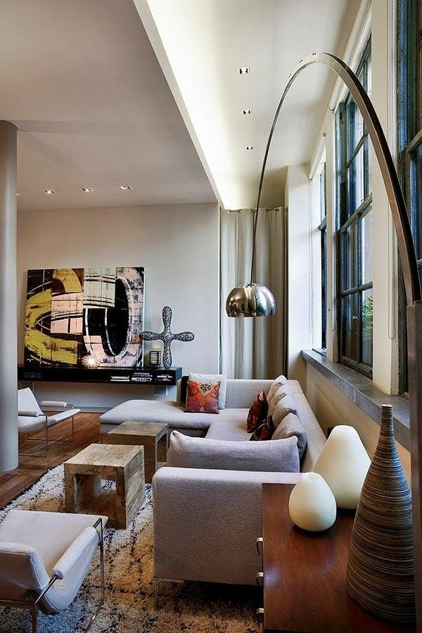 Wohnzimmer Luxus Interieur Leuchter Gläserne Wand Moderne Möbel