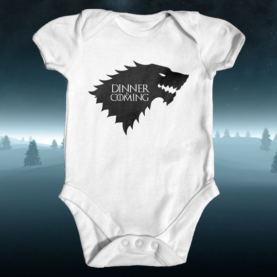 Dinner is Coming Game of Thrones Parody Baby Bodysuit  Baby