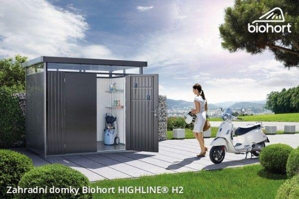 Zahradní domek HIGHLINE® H2, stříbrná metalíza    - Kliknutím zobrazíte detail obrázku.