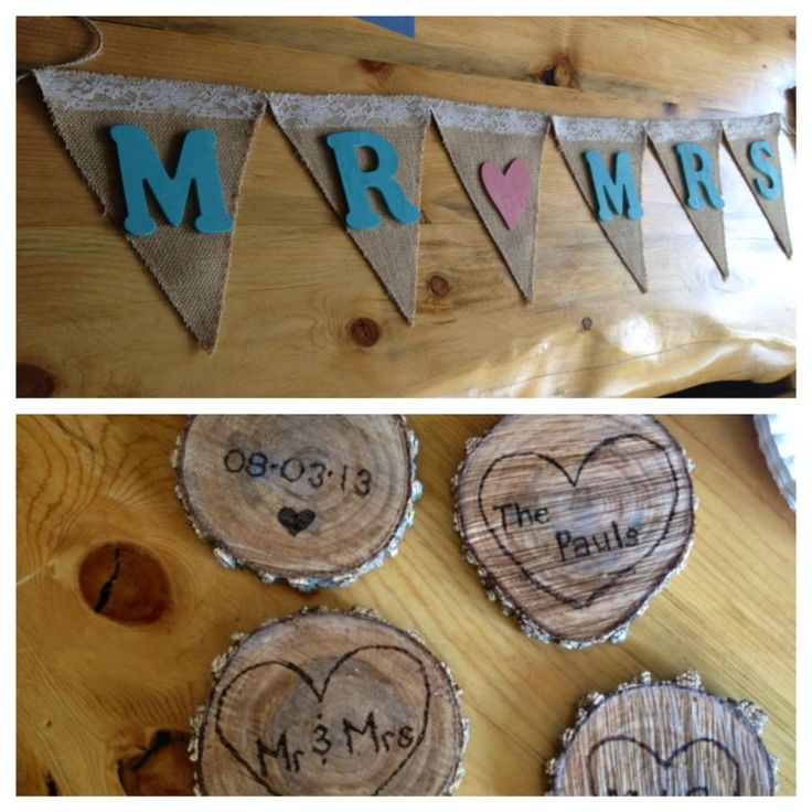 Wyoming wedding, rustic wedding, burlap banner, mr and mrs, log centerpieces, blush pink, turquoise, country wedding, diy, burlap and lace