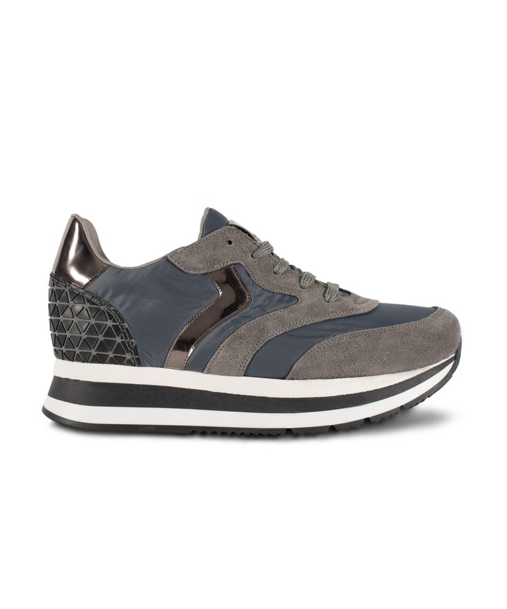 GRUMMAN sneaker metallic details for Ultimate Urban Walks... Grey