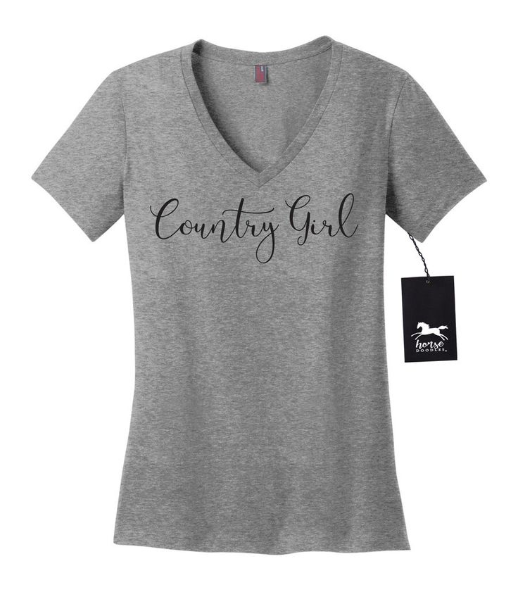 County Girl | southern girl | Women's V Neck T Shirt | Fashion Fit | Soft by HorseDoodles on Etsy https://www.etsy.com/listing/458475346/county-girl-southern-girl-womens-v-neck