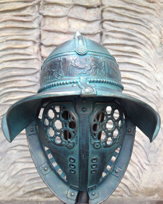 Ancient Mask Gladiator Helmet Mask Ancient by BirdArtBulgaria
