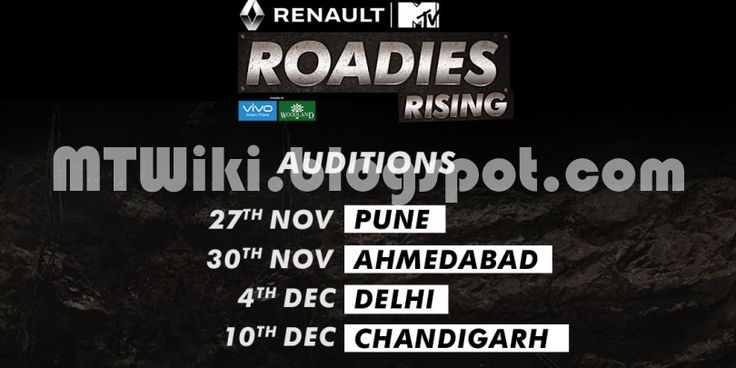 MTV Roadies X5 (Roadies Rising)  Reality Show on MTV wiki, Contestants List, judges, starting date, MTV Roadies X5 (Roadies Rising)  host, timing, promos, winner list. MTV Roadies X5 (Roadies Rising)  2016 Auditions & Registration Details