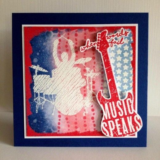 Visible Image stamps - Music Speaks - Drummer stamp - Nicky Gilburt
