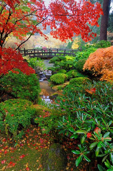 North Moon Bridge, Portland Japanese Garden, Portland, OR ~what's rad is this is right up the coast, in the same town as the big ass sandwich place. now that would be a rad date combo! ~xoxo~