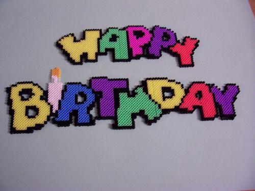 Happy Birthday!!! perler beads