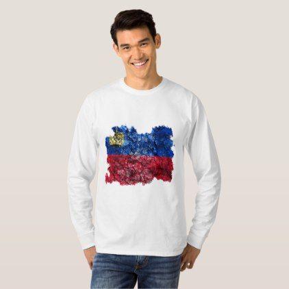 Liechtenstein Vintage Flag T-Shirt  $25.65  by Soulrider  - cyo customize personalize unique diy idea