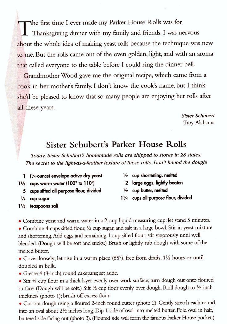 Sister Shubert rolls