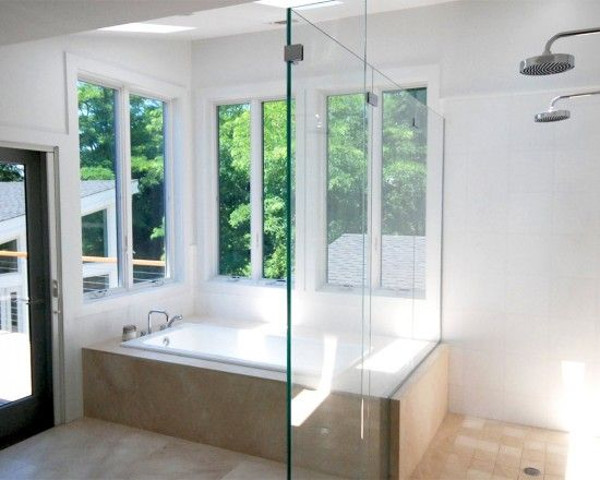 Best Bathroom Inspirations Images On Pinterest Bathroom - Glass partition for bathroom for bathroom decor ideas