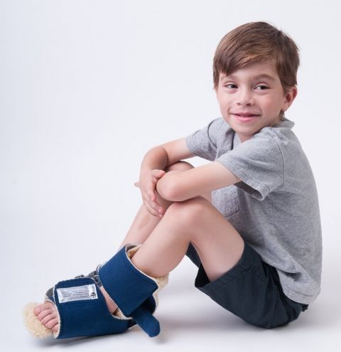 Comfy Pediatric Boot Orthosis with Straps