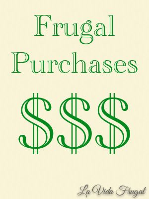Our Favorite Expensive Frugal Purchases | La Vida Frugal