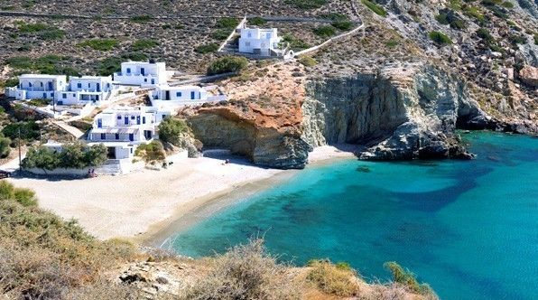Agali Beach on Folegandros, Greece - 11 of the World's Most Beautiful Beaches