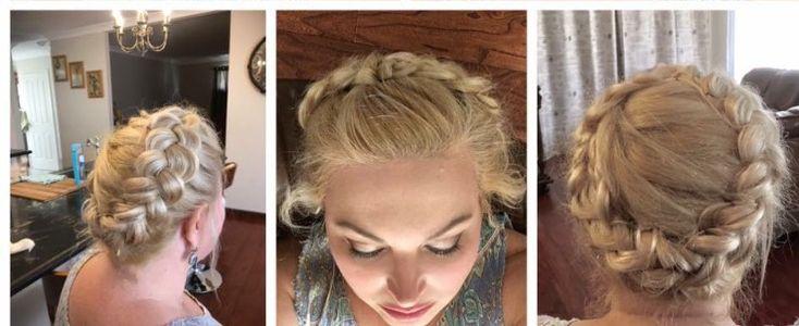 Dutch plait, pretty, wedding, hair up