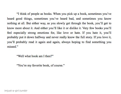 You're my favorite book, of course