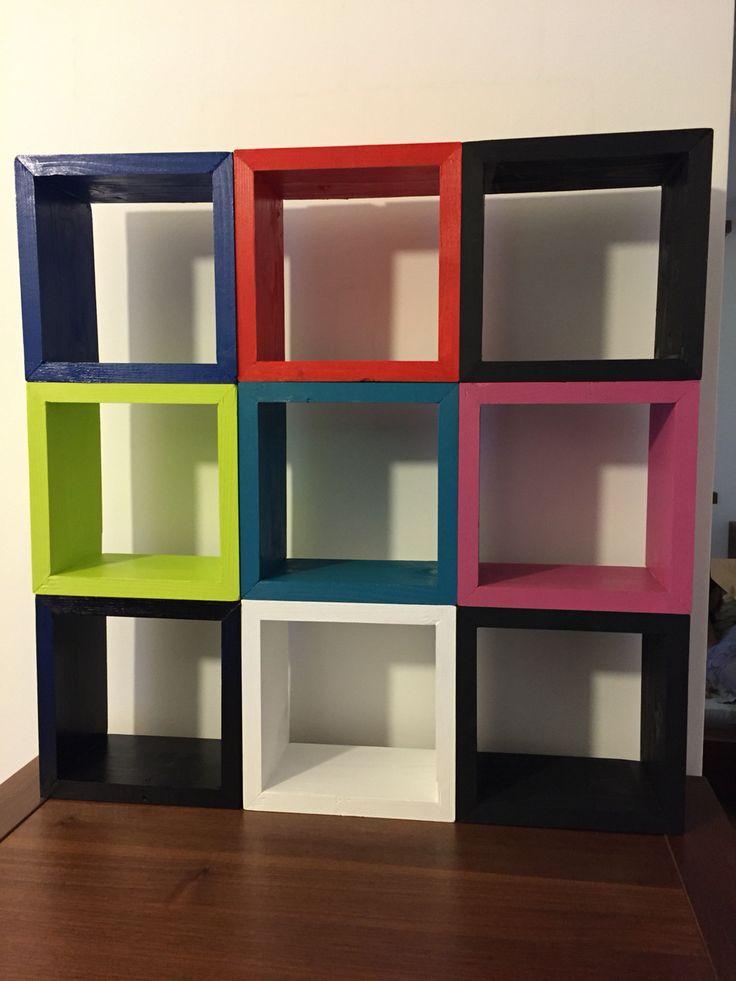 Square wood shelf