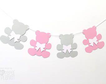 Guirnalda osito. Osos y arcos. Bebé ducha decoración cuarto