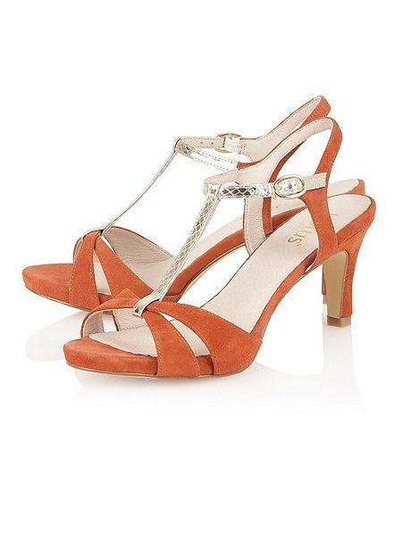 Lotus Geraldine open toe shoes Orange - House of Fraser